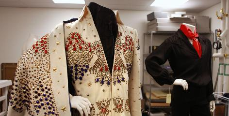 A new exhibit at the Newseum in Washington, D.C., features costumes and other artifacts from Elvis Presley's life, some never before publicly displayed.