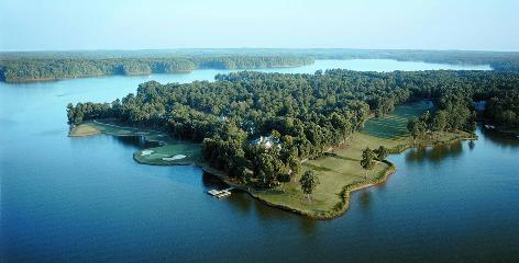 Nice shot: The Great Waters course at Reynolds Plantation.