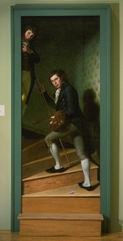 "Philadelphia: The painting The Staircase Group is said to have fooled a passing George Washington into saying ""hello."""