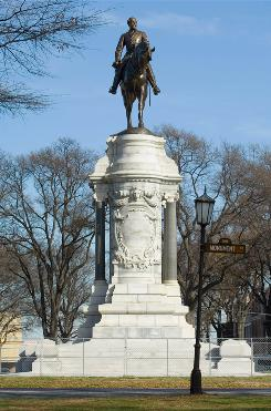 Richmond, Va.: Monument Avenue is lined with statues of Confederates.