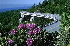 "75th anniversary: ""America's Favorite Drive"" features the Linn Cove Viaduct near Linville, N.C."