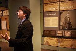 "Director Ken Burns attends a preview of the ""Discovering the Civil War"" exhibit at the National Archives in Washington."