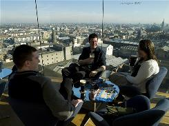 In Dublin: After touring the Guinness brewery, visitors can grab a pint of beer in the Gravity Bar and take in panoramic views of the city.