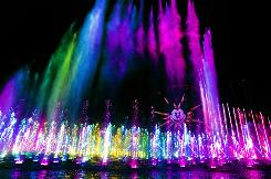 Disneyland's new World of Color attraction combines water, fire, lights, music and animation.