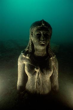 This statue is most likely a representation of Cleopatra II or Cleopatra III.