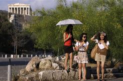 Officials say Greece's vital tourism industry is expected to suffer a 10% fall in bookings this year compared to 2009.