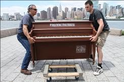 "For two weeks, anyone will be able to play the piano in 50 places throughout New York City as part of the ""Play Me, I'm Yours"" public art project."