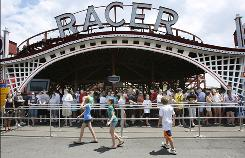 The Racer roller coaster at Kennywood Park in West Mifflin, Pa.,  is the only single-track racing coaster in the U.S.