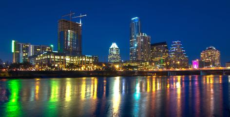 Downtown getting brighter: Austin's skyline is filled with almost all new high-rises. The revitalization and residential development was a major goal of former mayor Will Wynn.