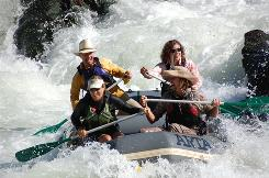 """Classic whitewater venue"": Oregon's Rogue River offers rapids, as well as calm stretches."