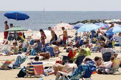 Asbury Park, N.J., is considering letting women go topless on an eight-block stretch of the beach.