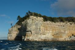 Rugged beauty: Pictured Rocks National Lakeshore is an often-empty stretch of Lake Superior shoreline on the Upper Peninsula of Michigan.