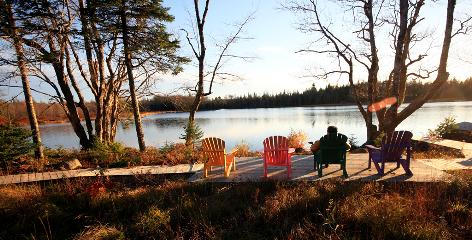 Trout Point Lodge, so remote it doesn't offer cellphone coverage, is on the banks of a river three hours south of Halifax, Nova Scotia.