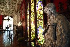 The Gothic Room at the Marble House in Newport, R.I., was created to display the Vanderbilts' art collection.