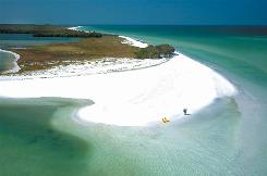Secluded sand: Natural beaches on Florida's west coast include offshore and barrier islands that dot the area, like Caledesi Island State Park, just north of Clearwater.