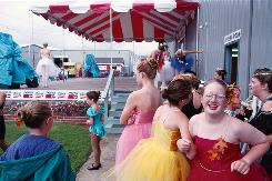 In Tillamook, Ore.: Dancers await their turn to perform at the Tillamook County Fair.