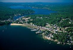 State's largest lake: Winnipesaukee's Weirs Beach, on the southwestern coast, is a popular tourist spot, with a boardwalk, large public beach, cruises, mini-golf and an arcade.