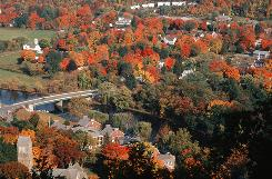 The town of Kent, Conn., was named the best town in New England for fall foliage in Yankee magazine's 75th anniversary issue.