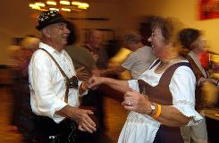 "Oompah-fest: Dancing is part of the fun in New Ulm. (For more local flavor, try ""gnome-made"" fudge.)"