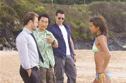 "From left, Scott Caan, Daniel Dae Kim, Alex O'Loughlin and Grace Park star in CBS' ""Hawaii Five-0."""