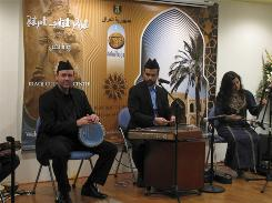 The Safaafir Iraqi Maqam Ensemble performs during the Embassy Series season opener at the Iraqi Cultural Center in Washington, D.C.
