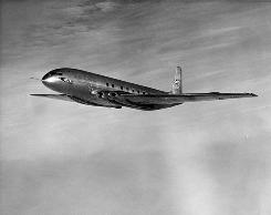 The de Havilland Comet made its debut in 1952 and was the odds-on favorite to be the first to fly passengers across the Atlantic.