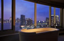 The Westin Jersey City Newport offers stunning skyline views and spacious rooms.