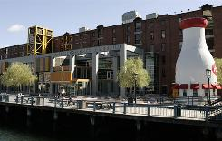 The Boston Children's Museum is part of the revitalized Fort Point Channel area.