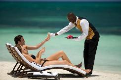Luxury included: Sandals resorts give butler service to guests who book higher room categories.