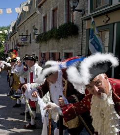 In Quebec City: Go way back in time for the five days of 'les Fetes de la Nouvelle-France' in this picturesque town on the St. Lawrence River.