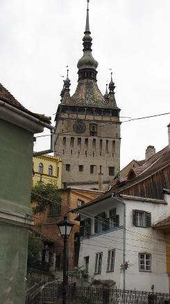 Upper town: Sighisoara's clock tower has been marking time since the early 17th century.