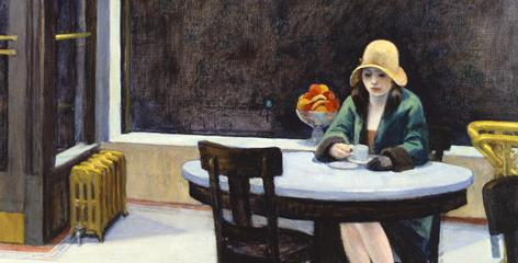 Automat: Detail from Edward Hopper's 1927 painting, which hangs at the Des Moines Art Center.