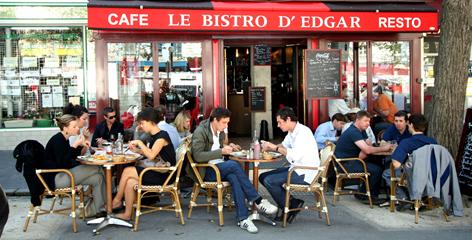 Many Americans end up at overpriced cafes and bistros in touristy areas. A few blocks from the popular Boulevard du Montparnasse is the area around the Edgar Quinet Metro stop, where value-minded locals flock to Le Bistro D'Edgar and a multitude of other cafes.