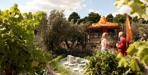 See how King Henry's wives were kept: Then stop and smell the gardens at Hampton Court Palace.