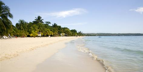 Seven Mile Beach in Negril: One of the Caribbean's most famous expanses of sand.