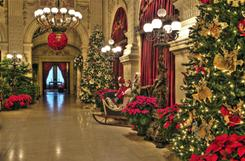 The Breakers will be decorated and open for tours through Jan. 2, 2011.