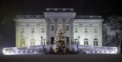 The Marble House and other Newport mansions are decorated for the holidays and host concerts and performances.
