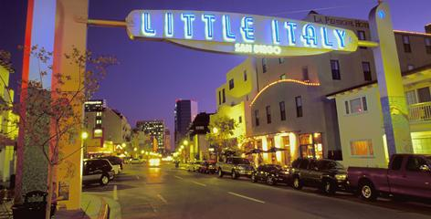 San Diego's Little Italy, known for its restaurants and farmers market, offers a menu of traditions and opportunities to soak up Italian culture.