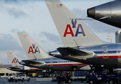 American Airlines has pulled its fares from Orbitz, and Expedia has pulled the airlines' fares from Expedia.com and Hotwire.com.