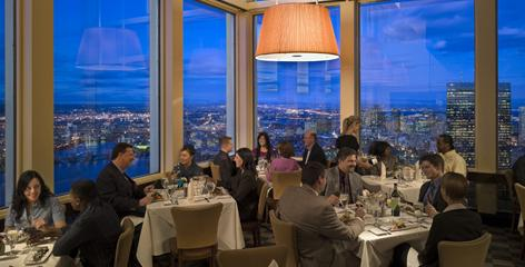 Boston's Top of the Hub restaurant offers sweeping views from the 52nd floor atop the Prudential Tower.