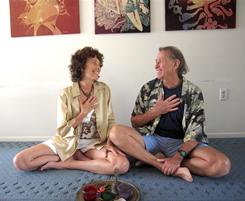 Diana and Richard Daffner, authors of 'Tantric Sex for Busy Couples,' teach intimacy retreats. Gazing into one another's eyes and touching your heart is one way to better connect, they say.