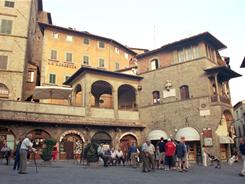 "The Piazza della Repubblica in Cortona, Italy, is the town's ""living room,"" says author Frances Mayes, who owns homes in Tuscany and North Carolina."