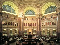 Library of Congress tours, offered Monday through Saturday, cover the building's art and architecture and provide a look at the magnificent Main Reading Room.