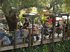 One of many restaurants that feature dining outside in San Luis Obispo is Novo, a place that draws inspiration from Brazilian, Mediterranean and Asian cuisines.