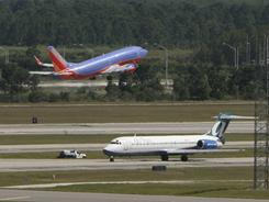 If you fly to Orlando, you will probably be sitting on a low-cost carrier: Southwest, AirTran and JetBlue fly half the seats to the city of theme parks.