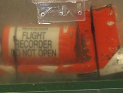 One of the two flight recorders of the Air France flight 447, which crashed in 2009, is shown here, near Paris.