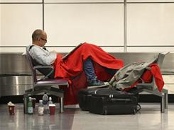 Some passengers spent the night at Edinburgh airport after airlines canceled flights in and out of Scotland.