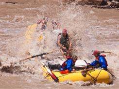 A whitewater raft trip down Cataract Canyon takes visitors into the heart of Canyonlands National Park in Utah.