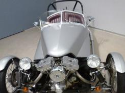 "A three-wheel vehicle, called ""Project K,"" at the Harley-Davidson Museum in Milwaukee, is from the mid 1980s when the company was experimenting with making a car-motorcycle hybrid."