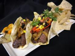 The fajitas at Minute Maid Park in Houston are served on flour tortillas made on site.